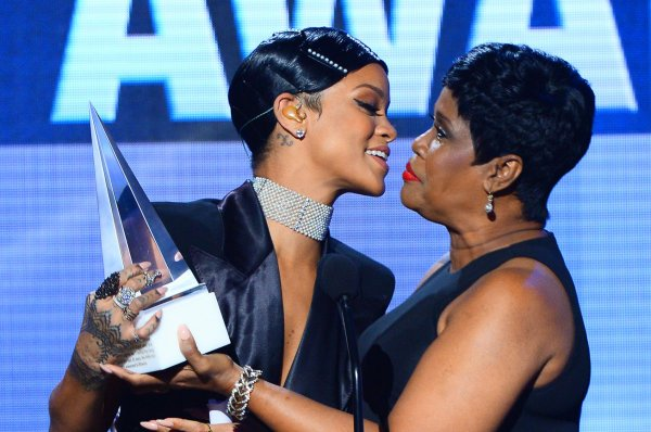 Rihanna and her mother Monica Braithwaite