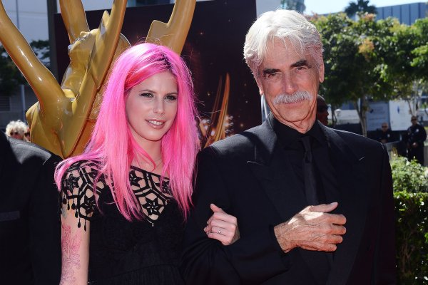 Sam Elliott and his daughter Cleo