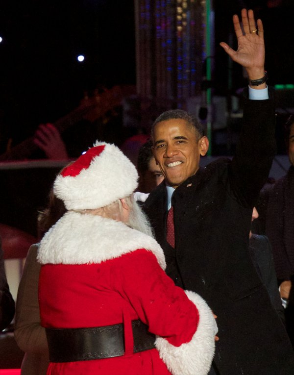 President Obama takes part in the National Christmas Tree Lighting