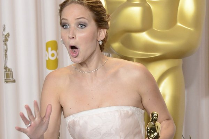 Jennifer Lawrence strikes a pose!