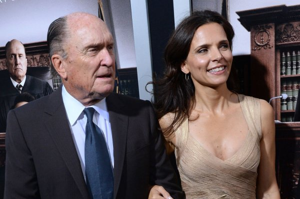 Robert Duvall and his wife Luciana Pedraza