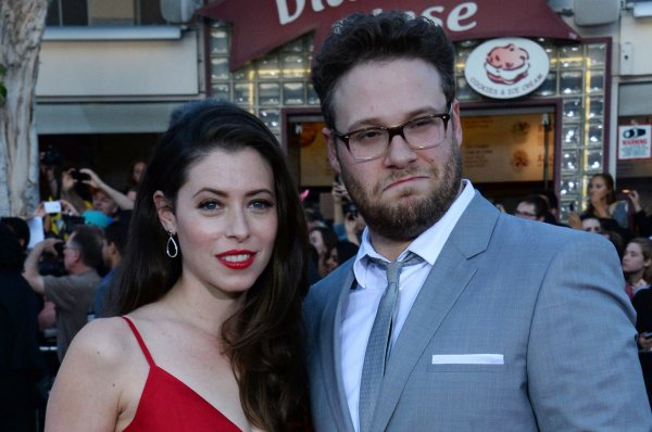 Seth Rogen and his wife Lauren Miller