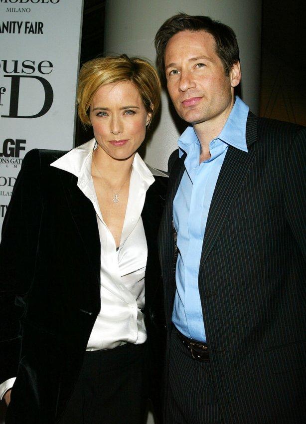 Tia Leoni and David Duchovny