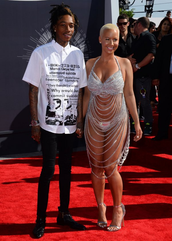 Amber Rose and Whiz Khalifa