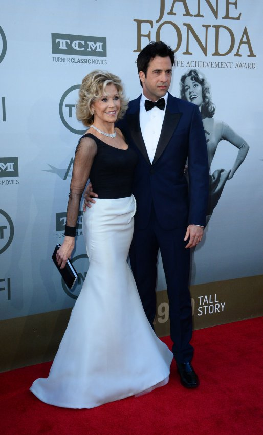 Jane Fonda and her son Troy Garrity