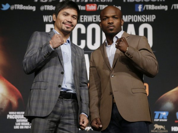 Manny Pacquiao and Timothy Bradley pre fight press event