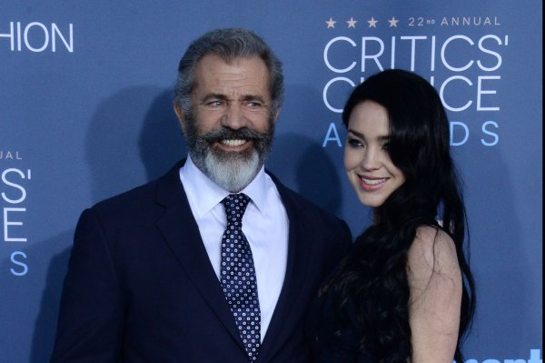 Mel Gibson and Rosalind Ross