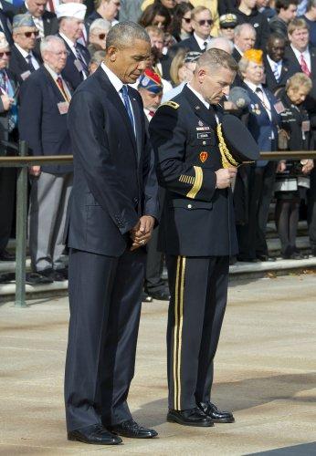 President obama delivers remarks on veteran's day at arlington.