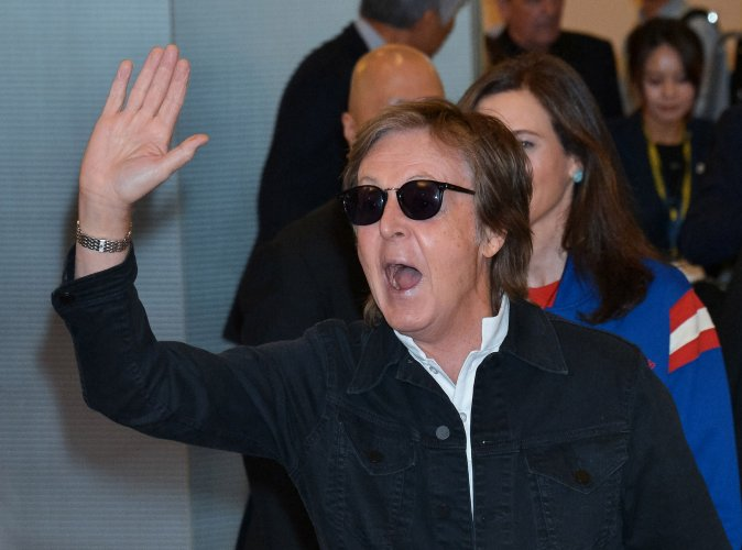 Paul McCartney Arrived In Tokyo Japan On April 23 2017 Ahead Of His Scheduled Performances At The Dome Is Slated To Perform 27