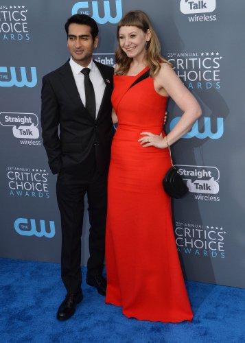Kumail Nanjiani and Emily V. Gordon attend the Critics' Choice Awards in Santa Monica