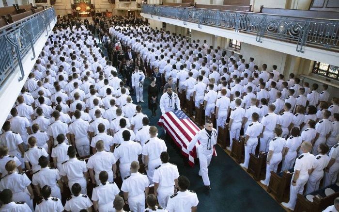 Sen. McCain Funeral Naval Academy