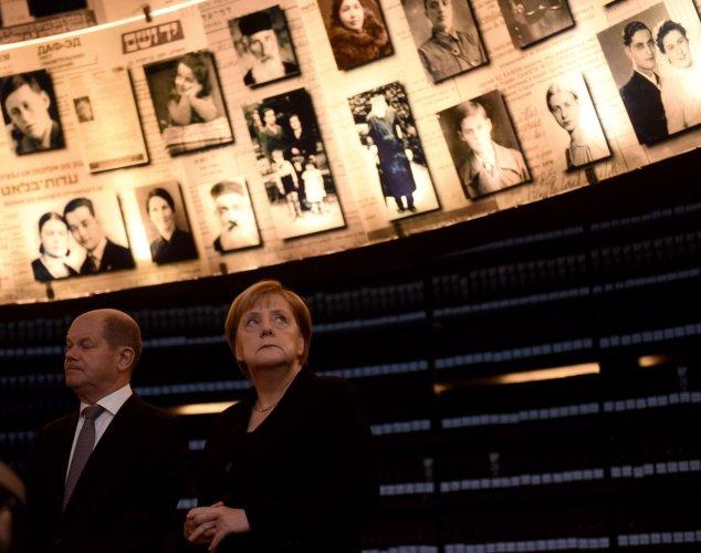 German Chancellor Angela Merkel Visits Yad Vashem