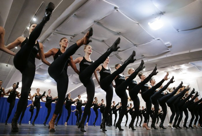 The Radio City Rockettes kick off rehearsals for the 2018 production of the Christmas Spectacular starring the Radio City Rockettes on Thursday in New York ...