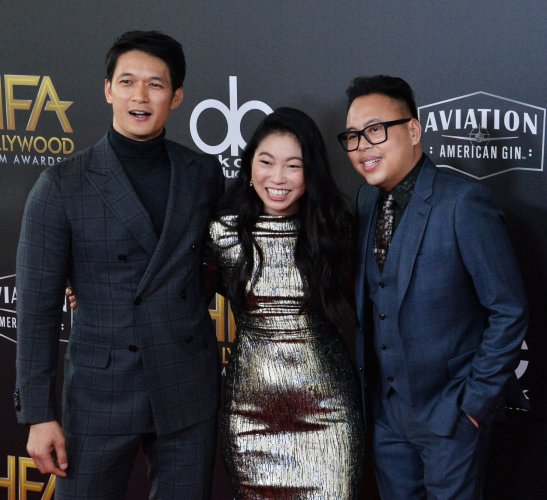 Harry Shum Jr., Awkwafina, and Nico Santos attend the 22nd annual Hollywood Film Awards in Beverly Hills