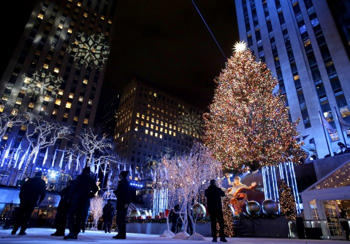 The Rockefeller Center Christmas Tree is lit for the first time this season after the 86th annual Christmas Tree Lighting Ceremony at Rockefeller Center in ...