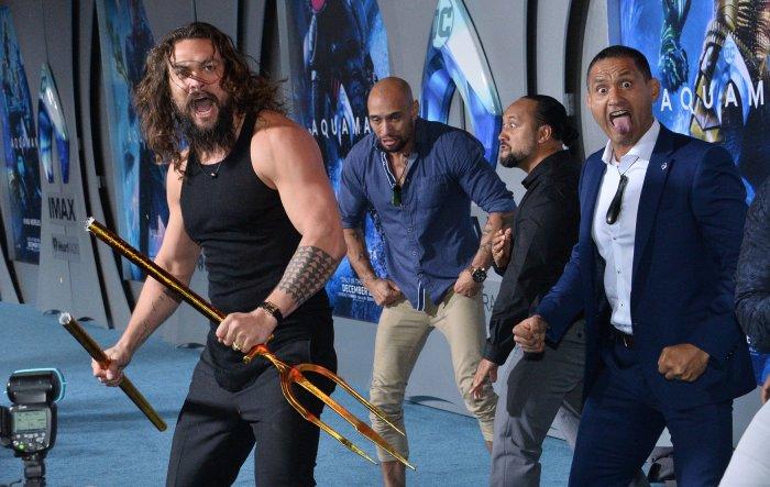 "Jason Momoa attends ""Aquaman"" premiere in L.A."