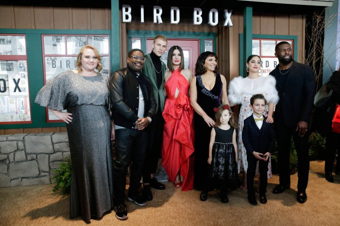 In photos: Sandra Bullock, Trevante Rhodes attend 'Bird Box