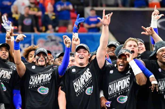 Florida celebrates after Chick-fil-A Peach Bowl win in Atlanta