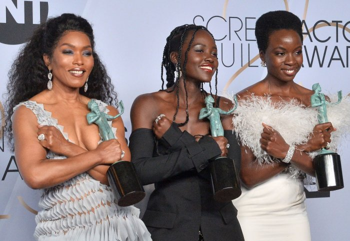 Angela Bassett, Lupita Nyong'o and Danai Gurira win awards at the 25th annual SAG Awards in Los Angeles