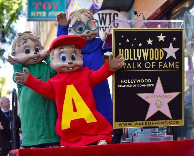 in photos alvin and the chipmunks honored with star on the hollywood walk of fame slideshow. Black Bedroom Furniture Sets. Home Design Ideas