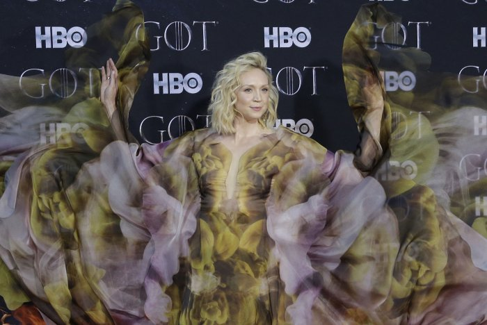 Gwendoline Christie at the Season 8 premiere of Game of Thrones