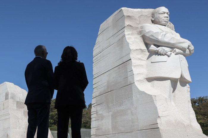 Joe Biden, Kamala Harris mark MLK memorial anniversary