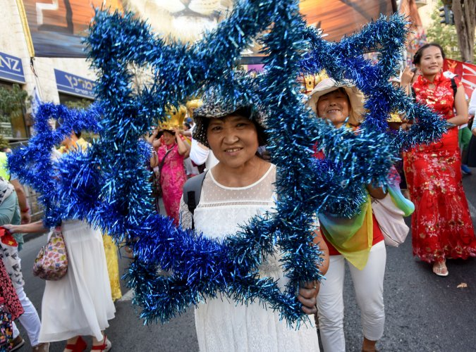 Annual Jerusalem parade on Sukkot - Photos