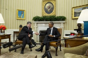 Ukraine President Poroshenko Visits Washington