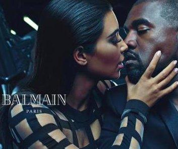 Kim Kardashian y Kanye West protagonizan en nuevo anuncio de Balmain