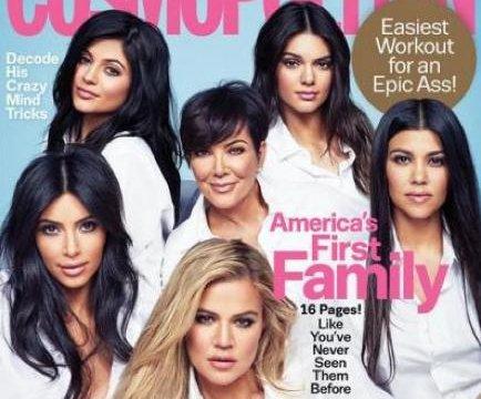 Las chicas Kardashian-Jenner aparecen juntas en portada de Cosmopolitan