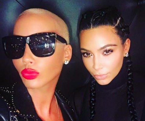 Amber Rose y Kim Kardashian posan juntas en foto de reconciliación