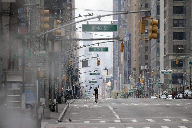 Con calles y carreteras vacías en gran parte del país, los niveles de contaminación han disminuido en las áreas metropolitanas del noreste de los EE.UU. en un promedio del 30 por ciento. Foto de John Angelillo / UPI