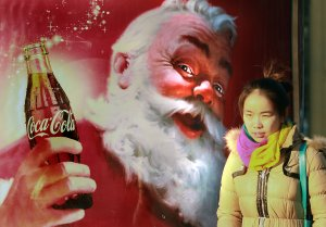 Coca-Cola promotes its sodas in Beijing