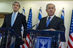 U.S. Secretary of State Kerry and Israeli Prime Minister Netanyahu meet in Jerusalem on Kerry 10th visit