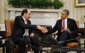 President Obama meets with Iraqi Prime Minister Maliki at the White House