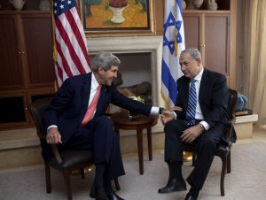 U.S. Secretary of State Kerry with Israeli PM Netanyahu in Israel