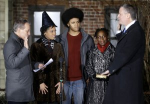 Bill de Blasio Sworn in as Mayor of New York