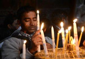 Christians Visit Church of Nativity, Bethlehem, West Bank