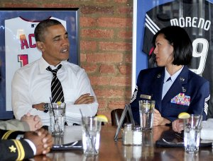 President Obama has lunch with Military Service Members in Washington, D.C.