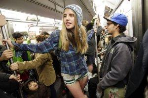 No Pants Subway Ride 2014 in NYC