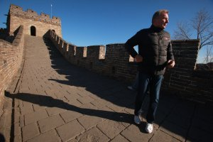Montana visits Great Wall in Beijing