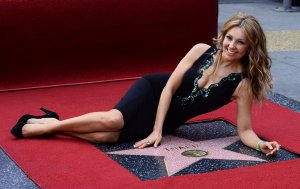 Thalia honored with star on the Hollywood Walk of Fame in Los Angeles