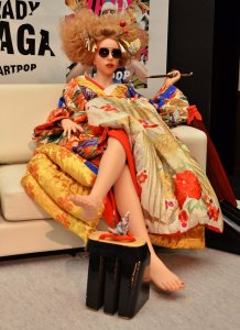 "Lady Gaga holds a press conference with her ""Gagadolls"" in Tokyo"
