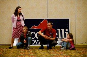 Virginia Republican state Attorney General Ken Cuccinelli delivers his concession speech