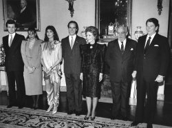 President and Mrs. Reagan hosts Monaco Royal family at White House