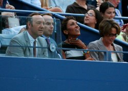 Kevin Spacey attends the U.S. Open in New York