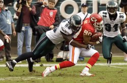 Chief's Bobby Wade tackled