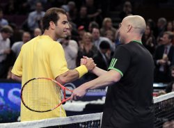 Tennis Legends Pete Sampras and Andre Agassi at the BNP Paribas Showdown in New York