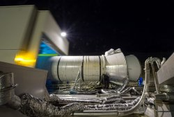 Booster test for NASA's Space Launch System (SLS) rocket