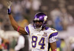 Minnesota Vikings Randy Moss at New Meadowlands Stadium in New Jersey